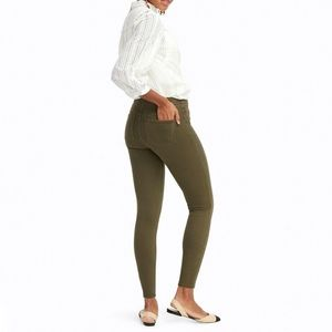 Spanx Jean-ish Ankle Army Green Olive Jegging Legging
